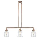 Greeley 3-Light Kitchen Island Pendant Shade Color: Clear, Bulb Type: LED, Finish: Antique Copper