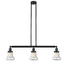 Nardone 3-Light Kitchen Island Pendant Bulb Type: Incandescent, Shade Color: Seedy, Finish: Matte Black