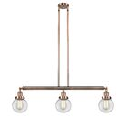 Jackeline 3-Light Kitchen Island Pendant Shade Color: Matte White Cased, Bulb Type: Incandescent, Finish: Antique Copper