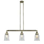 Greeley 3-Light Kitchen Island Pendant Finish: Antique Brass, Bulb Type: Incandescent, Shade Color: Seedy