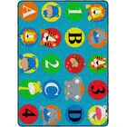 Brutus ABC & 123 Animals Primary Blue/Green Area Rug Rug Size: Rectangle 6' x 8'4