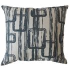 Prudence Geometric Cotton Pillow Color: Dark Navy, Size: 24
