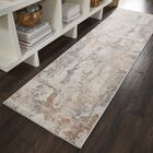 Comer Abstract Beige/Gray Area Rug Rug Size: Runner 2'2