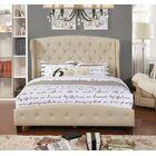 Vanesa Upholstered Panel Bed Color: Beige, Size: Queen