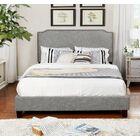 Bridgette Upholstered Panel Bed Color: Beige, Size: Queen
