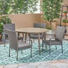 Hoehne Outdoor 5 Piece Dining Set Color: Gray