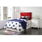 EmeraldCove Upholstered Panel Headboard Color: Red, Size: Twin