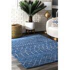 Hosteen Dark Blue Area Rug Rug Size: Rectangle 8' x 10'