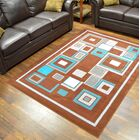 Cosper Brown/Blue Area Rug