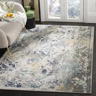 Grieve Ivory/Blue Area Rug Rug Size: Rectangle 9' x 12'