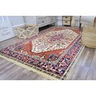 Oriole Hand-Knotted Wool Ivory/Blue Area Rug Rug Size: Rectangle 8' x 10'
