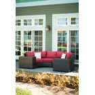 Darden 4 Piece Rattan Sectional Seating Group with Cushions Cushion Color: Kiwi