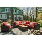 Darden 8 Piece Rattan Sectional Seating Group with Cushions Cushion Color: Regatta