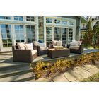 Darden 5 Piece Rattan Sofa Seating Group with Cushions Cushion Color: Sesame