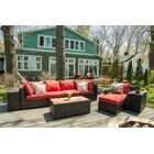 Darden 9 Piece Rattan Sofa Seating Group with Cushions Cushion Color: Kiwi