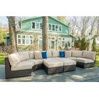 Darden 6 Piece Rattan Sectional Seating Group with Cushions Cushion Color: Regatta