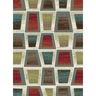 Leandro Geometric Green/Brown Area Rug Rug Size: Rectangle 7'10