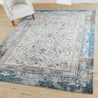 Alexis Leaf Abstract Gray/Blue Area Rug Rug Size: Rectangle 5' x 7'