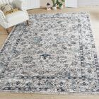 Bluebell Abstract Distressed Gray/Blue Area Rug Rug Size: Rectangle 8' x 10'