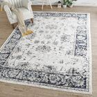 Bullock Distressed Gray Area Rug Rug Size: Rectangle 5' x 8'
