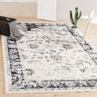 Bunch Stain Fade White/Blue Area Rug Rug Size: Rectangle 6'5