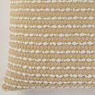Caulksville Textured Cotton Throw Pillow Color: Ivory