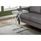 Harlan End Table Table Top Color: Gray, Table Base Color: Silver
