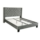 Bradninch Upholstered Panel Bed Size: Queen, Color: Gray