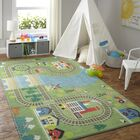 Engler Train Track Green/Blue Area Rug Rug Size: Rectangle 8' x 10'
