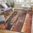 Greater Taree Rustburn Black/Brown Area Rug Rug Size: Rectangle 8' x 10'
