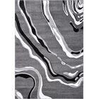 Linnea Gray/Black Area Rug Rug Size: Rectangle 2'7