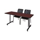 Marin Training Table Tabletop Finish: Mahogany, Size: 29