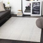 Bahr Abstract Light Gray/Beige Area Rug Rug Size: Rectangle 5'3