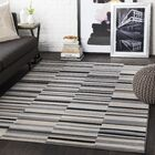 Bahr Striped Light Gray/Taupe Area Rug Rug Size: Rectangle 3'11