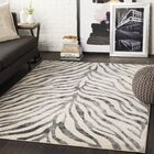 Aine Distressed Animal Print Taupe/Light Gray Area Rug Rug Size: Rectangle 3'11