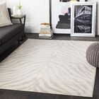 Aine Distressed Animal Print Light Gray/Beige Area Rug Rug Size: Rectangle 9'3