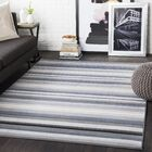Brighouse Striped Light Gray/Taupe Area Rug Rug Size: Rectangle 9'3