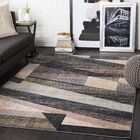 Bahr Distressed Geometric Coral/Beige Area Rug Rug Size: Rectangle 5'3