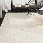 Hull Geometric Handwoven Wool Cream Area Rug Rug Size: Rectangle 5' x 8'