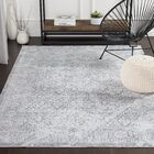 Heger Distressed Silver Gray/White Area Rug Rug Size: Rectangle 7'10