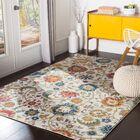 Hillsby Floral Saffron/Teal/Beige Area Rug Rug Size: Rectangle 7'10