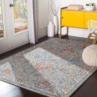 Hillsby Inspired Floral Burnt Orange/Garnet Area Rug Rug Size: Rectangle 7'10