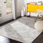 Hillsby Light Gray/Charcoal Area Rug Rug Size: Rectangle 5'3