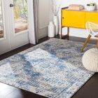Hillsby Distressed Dark Blue/Light Gray Area Rug Rug Size: Rectangle 9'3
