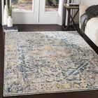 Mckeel Distressed Pale Blue/Bright Blue Area Rug Rug Size: Rectangle 9' x 13'1