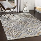 Mercedes Medallion Hand-Looped Charcoal/Gray Indoor/Outdoor Area Rug Rug Size: Rectangle 5' x 8'