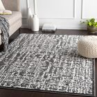 Fields Distressed Abstract Charcoal/Gray Area Rug Rug Size: Rectangle 5'3