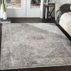 Mckeel Distressed Gray/Charcoal Area Rug Rug Size: Rectangle 9' x 13'1