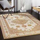 Moon Hand-Tufted Wool Rose/Mustard Area Rug Rug Size: Rectangle 5' x 7'6