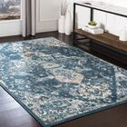 Neppie Distressed Teal/Dark Blue Area Rug Rug Size: Rectangle 7'10